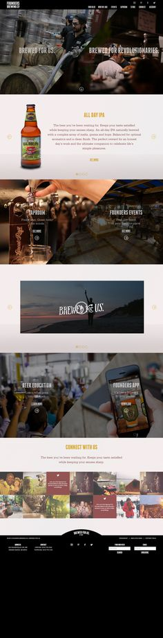 Concept for Founders Brewing website #beer #interactive #design #concept #web