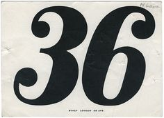 36 | Flickr - Photo Sharing! #numerals #vitage #numbers #type #race