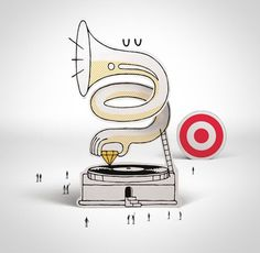 FFFFOUND! | steven_harrington_target01.jpg (500×488) #target #steven harrington #grammophone