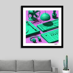 #rickardarvius #artprint #curioos #homedecor #interiordesign #homestyling #lowpoly #dj #edm #turntable #music #3dart #cinema4d #render #3d