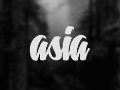 Asia #lettering #letters #asia #logo #caracas #venezuela #typography