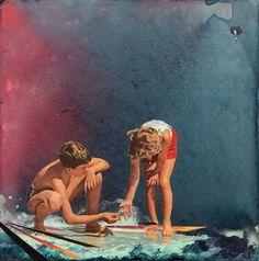 Collages by Aaron Maurer I Art Sponge #aaron #paint #illustration #maurer #kids #watercolor #collage