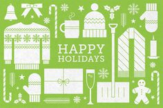 Holiday_card_2013 #icon #card #print #texture #illustration #holiday #greeting #postcard #humor #green