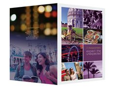 Purple Sightseeing Travel Folder Template