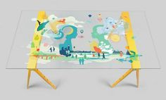 Facebook f8 - Michael Cina #illustration #table