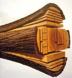 log into lumber - Imgur #wood #log