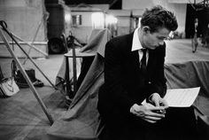 All sizes | James Dean on the Warner Brothers set of Rebel Without a Cause, 1955, by Bob Willoughby | Flickr - Photo Sharing! #a #cause #willoughby #bob #rebel #james #without #film #dean