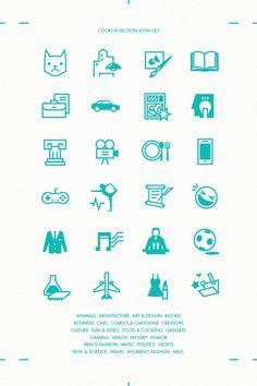 COOKI section icon set on Behance #icon #picto #sign #sxmbol