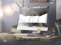 ArchitectureX : Free Architecture PSD Template