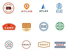 These are Aaron Eiland reject logos. Makes me wanna see what made the cut. #aaron #atlas #logos #eiland