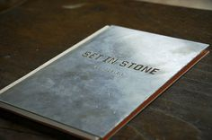 Set In Stone - Alex Cornell #print #design #graphic