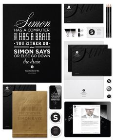 Simon Says - Corporate Identity, 2012 on Typography Served #logo #design #identity