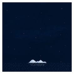 BAD NEWS FROM COSMOS - Cover #ocean #mountain #iceberg #cover #night #poster #music