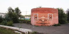 street art by nomerz transforms derelict structures #novgorod #nizhniy #art #street