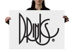 Typography inspiration #drinks #typography