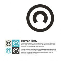Logo Design Challenge For Human Rights #logo design #human first