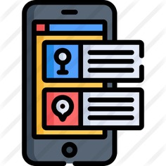 See more icon inspiration related to maps and location, route, electronics, mobile phone, navigation, maps, navigator, smartphone, cellphone, map, location, gps, application and app on Flaticon.