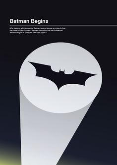Minimalist Movie Posters on Behance #movie #minimalism #batman #poster #begins #minimalist