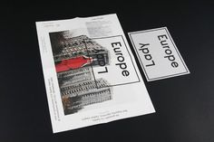Europe Lady #booklet #typeface #poster