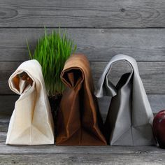 The Brown Bag Waxed Canvas Lunch Bags #tech #flow #gadget #gift #ideas #cool