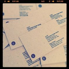 A.N.D Studio Blog #business #tactile #stationery #stamps #design #graphic #identity #and #cards