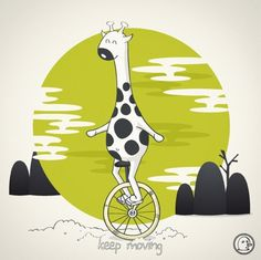 Lonelypeopleart :: Illustration • Life is like riding a bicycle. To keep your...