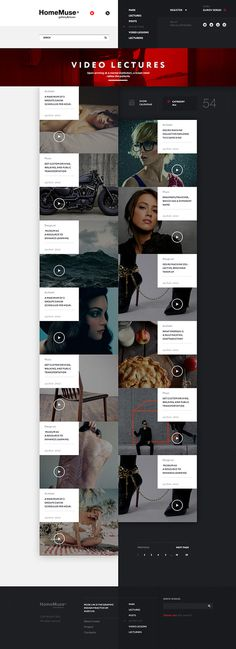 HomeMuse Gallery on Behance #web #homemuse #webdesign