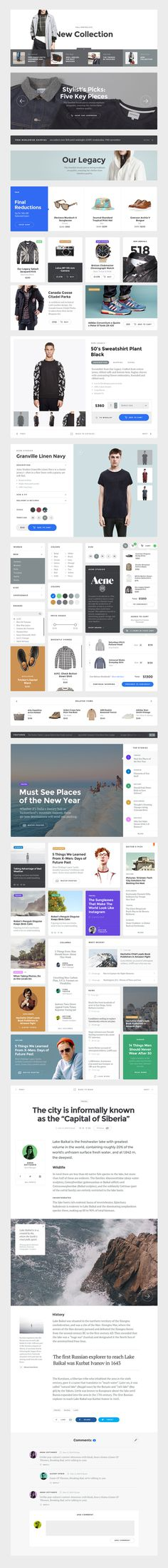 Baikal_preview_components #design #web #kit #ui