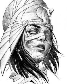 Cleopatra Tattoo Sketch