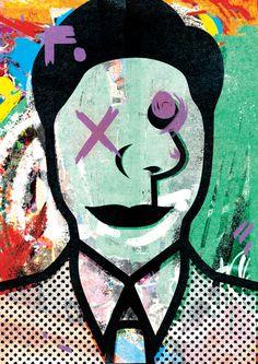 The less you speak... #abstract #graffiti #illustration #bold #portrait #colour #print #halftone #black #outline