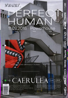 Perfect Human w/ Caerulea Poster 2018