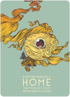 Everyone Deserves a Home Art Print #print #fish #art