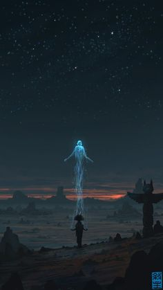 Soul Ascending by JoshHutchinson #soul #illustration #spirit #desert #native #american #shaman