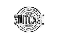 Suitcase Vintage Logo Design by A. Micah Smith #photocopied #suitcase #worn #vintage