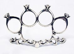 \'til death do us part knuckle duster | kate bauman | contemporary enamel, jewelry, art & design