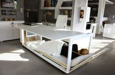 Desk Convertible to Bed by Athanasia Leivaditou #interior #furniture #design