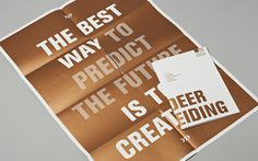 WdKA Graduation manual 2014 on Behance #type #layout #gold