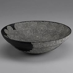 ceramic, Sgrafitto, dot, pattern, bowl