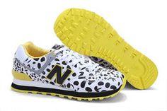 Mens new balance ML574FRA dairy milk White Black Shoes