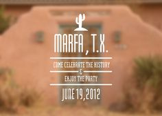 marfa invite #invitation #blur #texas #illustration #type #cactus #desert #party