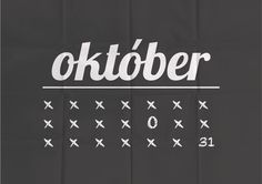 month of October #month #calendar #october #oktober #poster #type