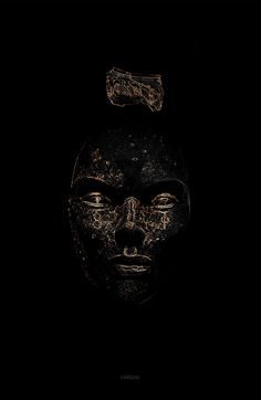 Luminescent pt. I on Behance #design #culture #illustration #art #gold #face #dark #beauty