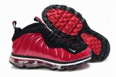 red and black nike air foamposite max women shoes