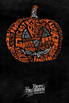 Many Types of Halloween on Behance, Saxon Campbell #hand drawn #typography