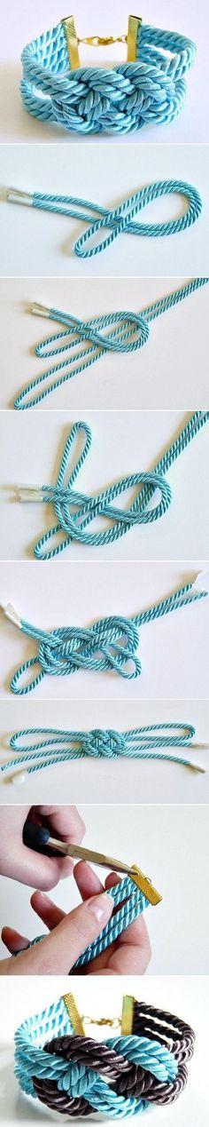 DIY Lovely Thick Bracelet #knots #jewelry #bracelet