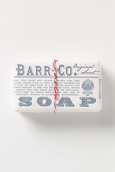 Barr Co. Soap Bar Anthropologie.com #packaging #soap #typography