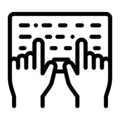 See more icon inspiration related to keyboard, hands and gestures, typewriter, keyboards, hardware, typing, electronics, electronic, hands, keys and computer on Flaticon.