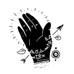 Franco Giovanella Portfolio Hands on #illustration #art #tattoo #ink #hand #fingers #draw #symbols #blck
