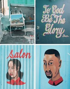 South African Township Barbershops & Salons | Brain Pickings #salon #africa #south #barbershop #township #storytelling #signage