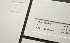 Letterpress- printing technique // Lead Image #card #letterpress #business